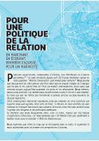 Manifeste_Pour une politique de la relation_Plaquette