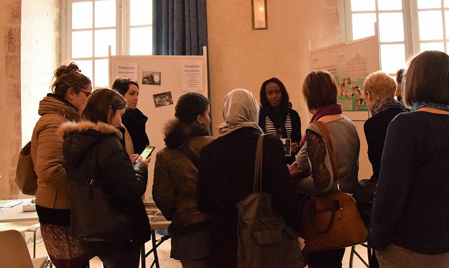 Photolangage organisé par le CIDFF le 8 mars 2017 à Belley